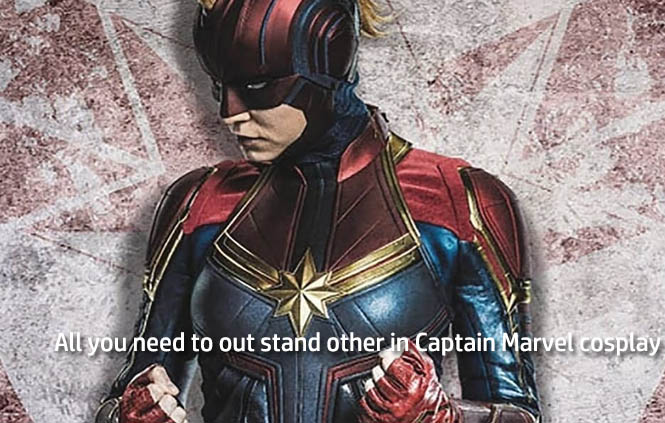 All you need to out stand other in Captain Marvel cosplay