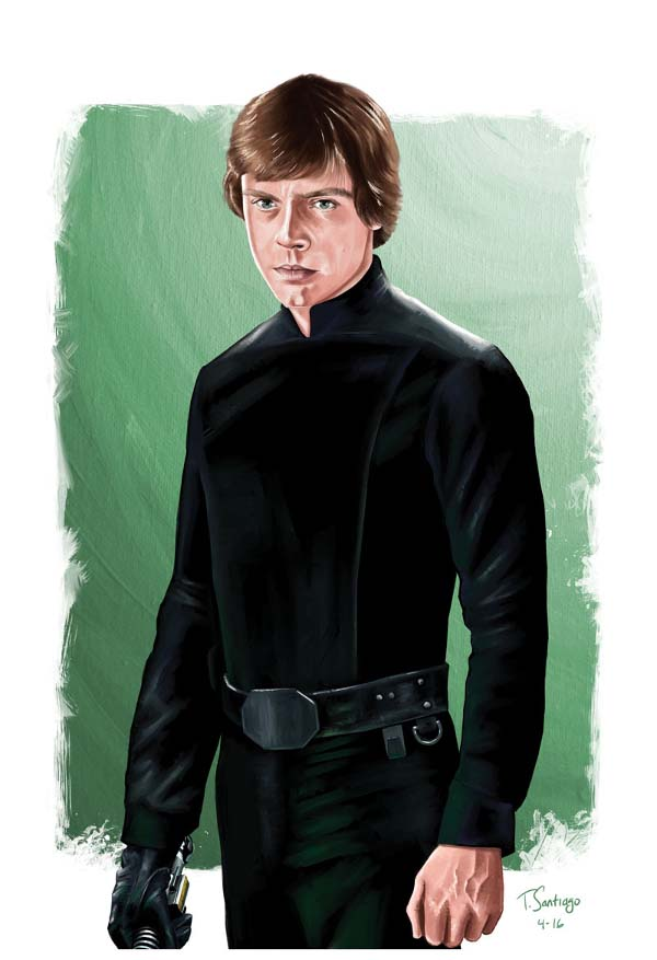 luke skywalker fans art by Tony Santiago Art